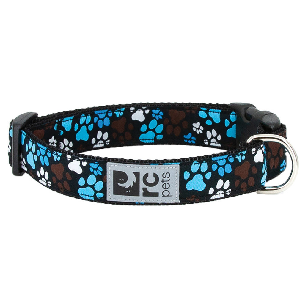 """View larger image of Clip Collar - Pitter Pat Chocolate - 1"""" Width"""