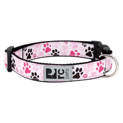 "Clip Collar - Pitter Patter Pink - 1"" Width"