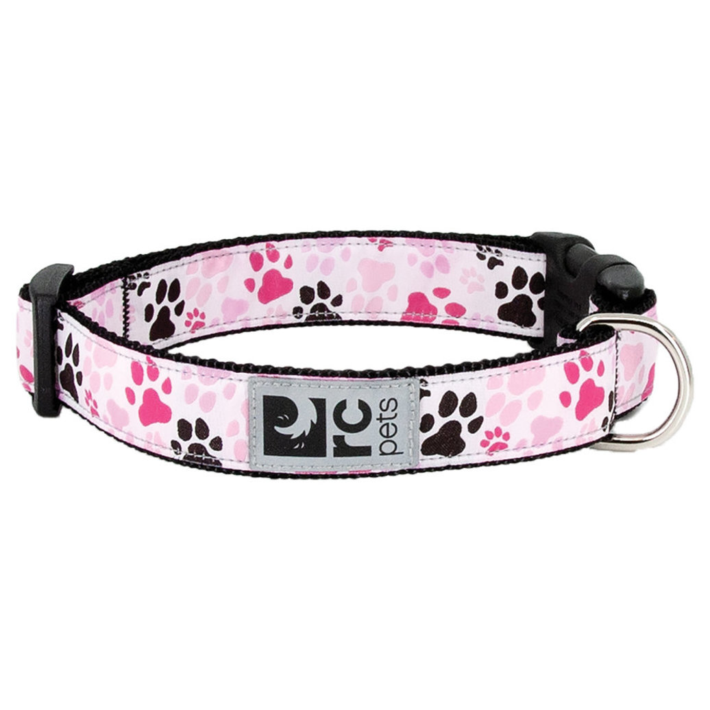 """View larger image of Clip Collar - Pitter Patter Pink - 3/8"""" Width - Small"""