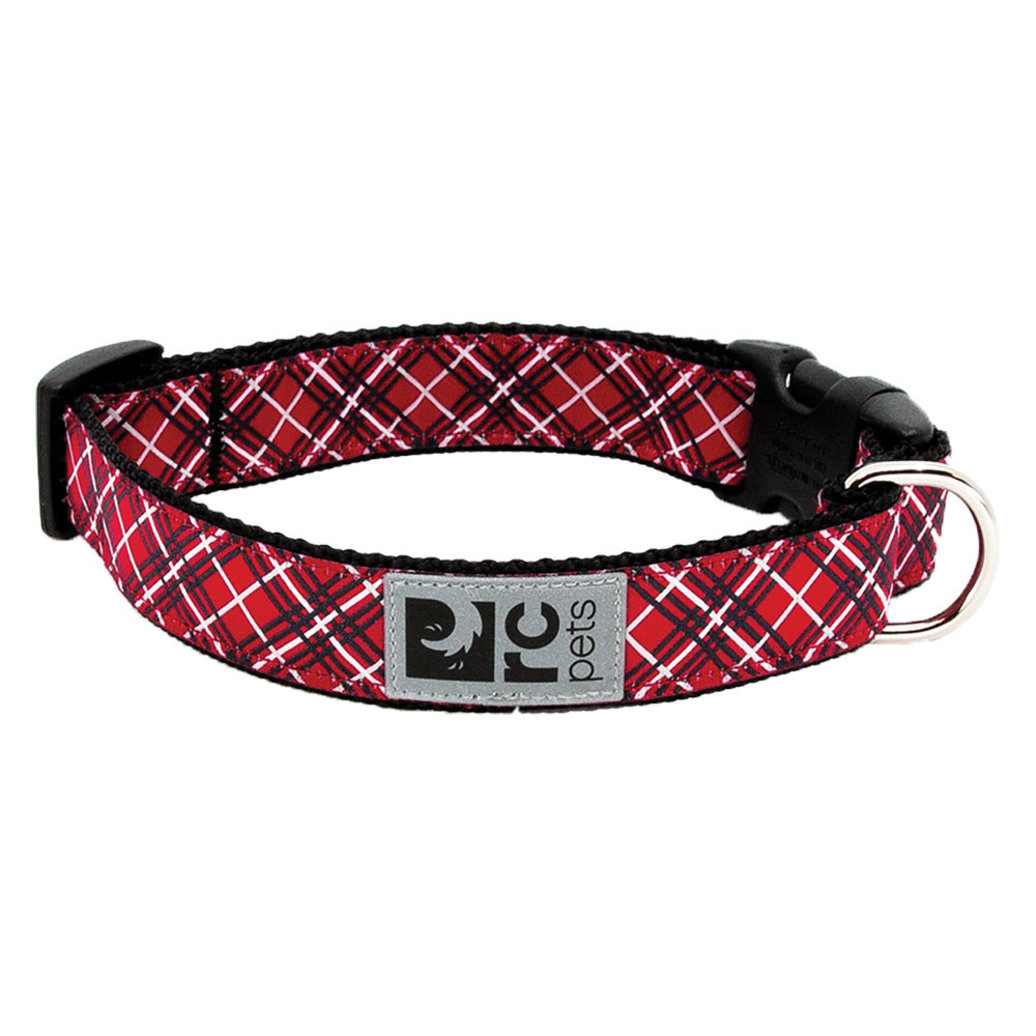 """View larger image of Clip Collar - Red Tartan - 5/8"""" Width - X-Small"""