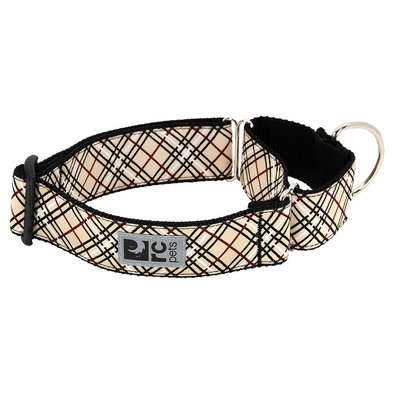 Training Collar - All Webbing - Tan Tartan