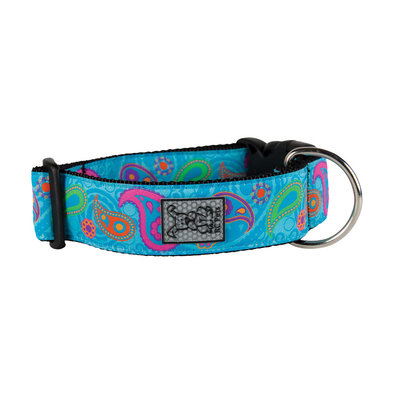 Wide Clip Collar - Tropical Paisley