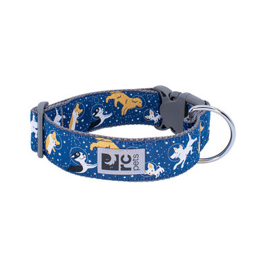 Wide Clip Collar - Space Dogs