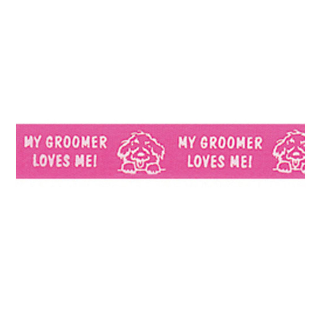 View larger image of Ribbon - Groomer Love - Hot Raspberry