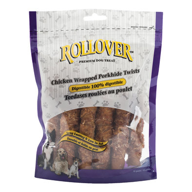 Chicken Wrapped Porkhide Twists - 10pk