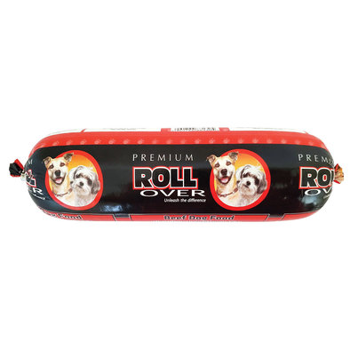 Dog Food, Semi-Soft Premium Roll, Beef