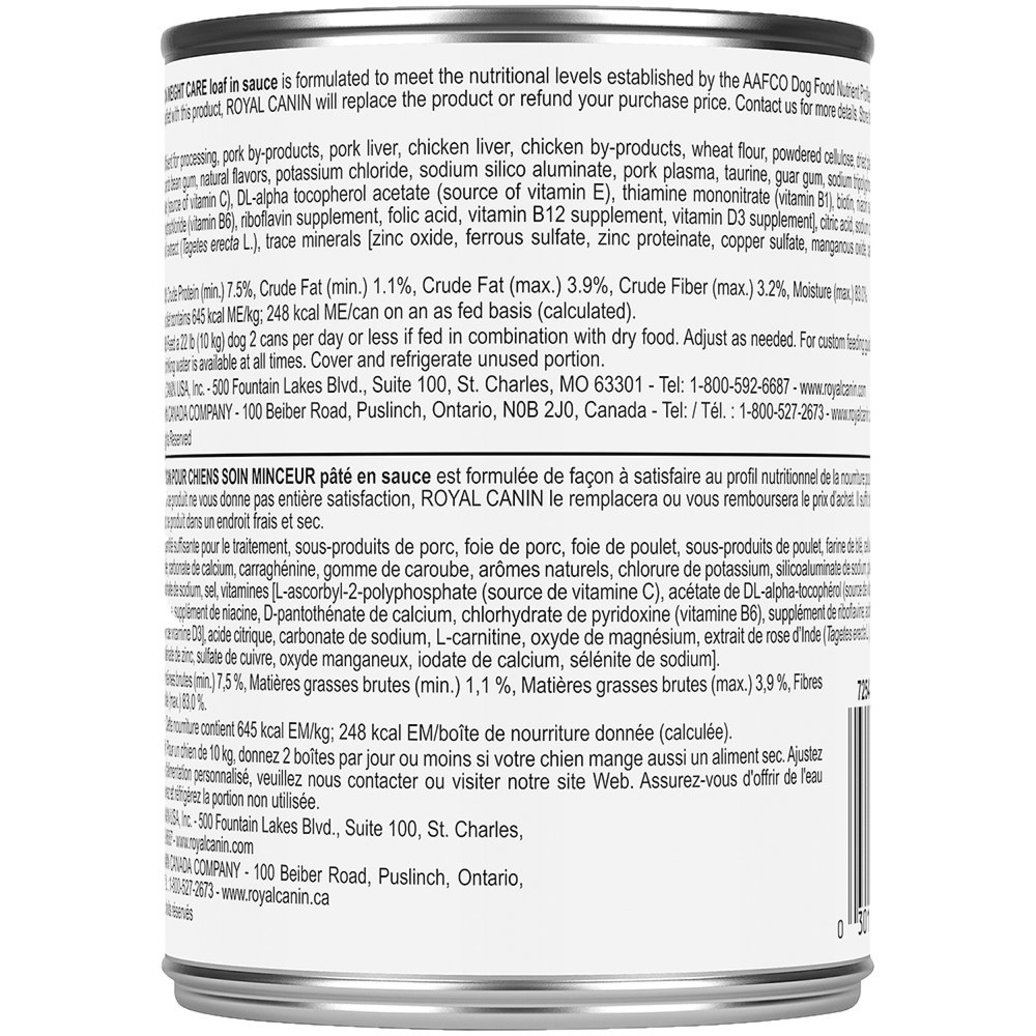 View larger image of Canine Care Nutrition Adult Weight Care Loaf in Sauce