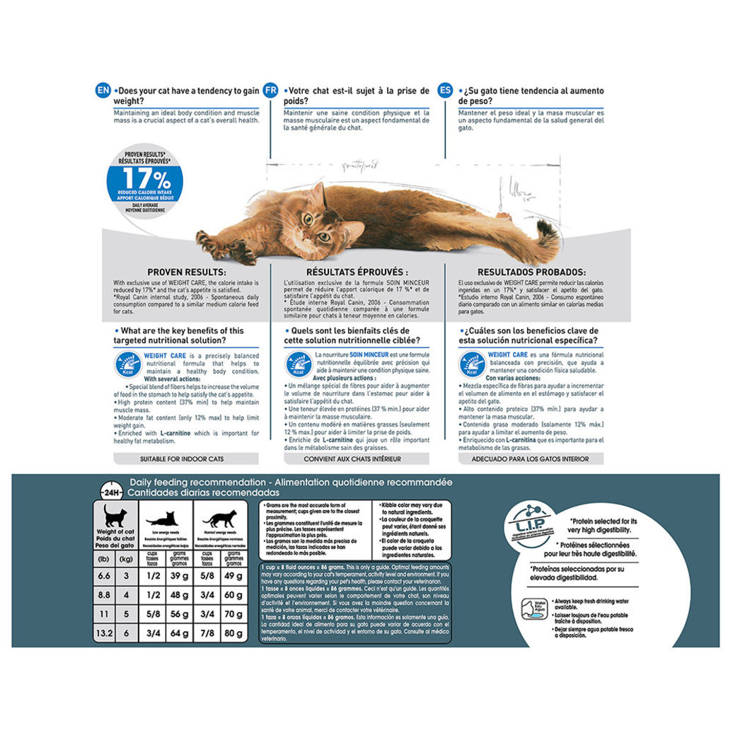 View larger image of Feline Care Nutrition Indoor Weight Care