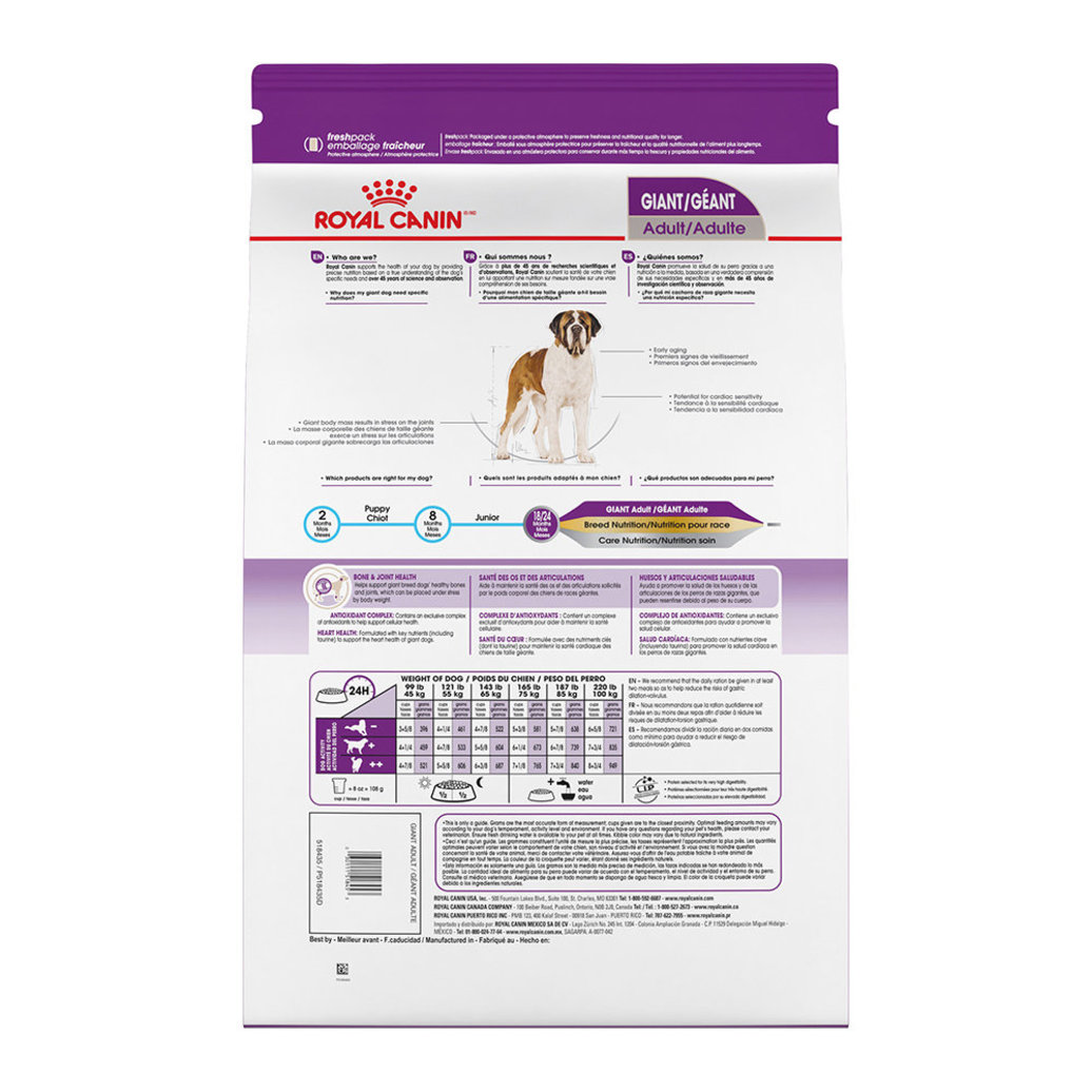 View larger image of Size Health Nutrition Giant Adult Dry Dog Food