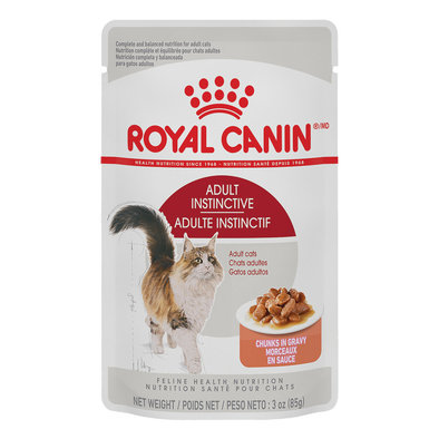 Feline Health Nutrition Adult Instinctive Chunks in Gravy