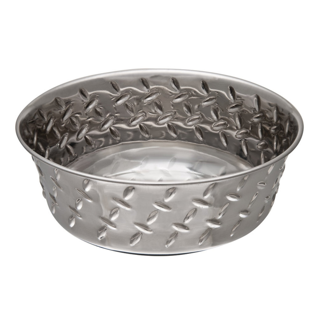 View larger image of Diamond Plate Bowl With Non-Skid Bottom