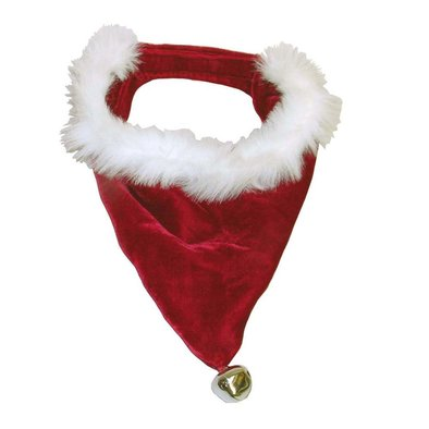 Santa Dog Bandana - Red/White - Large