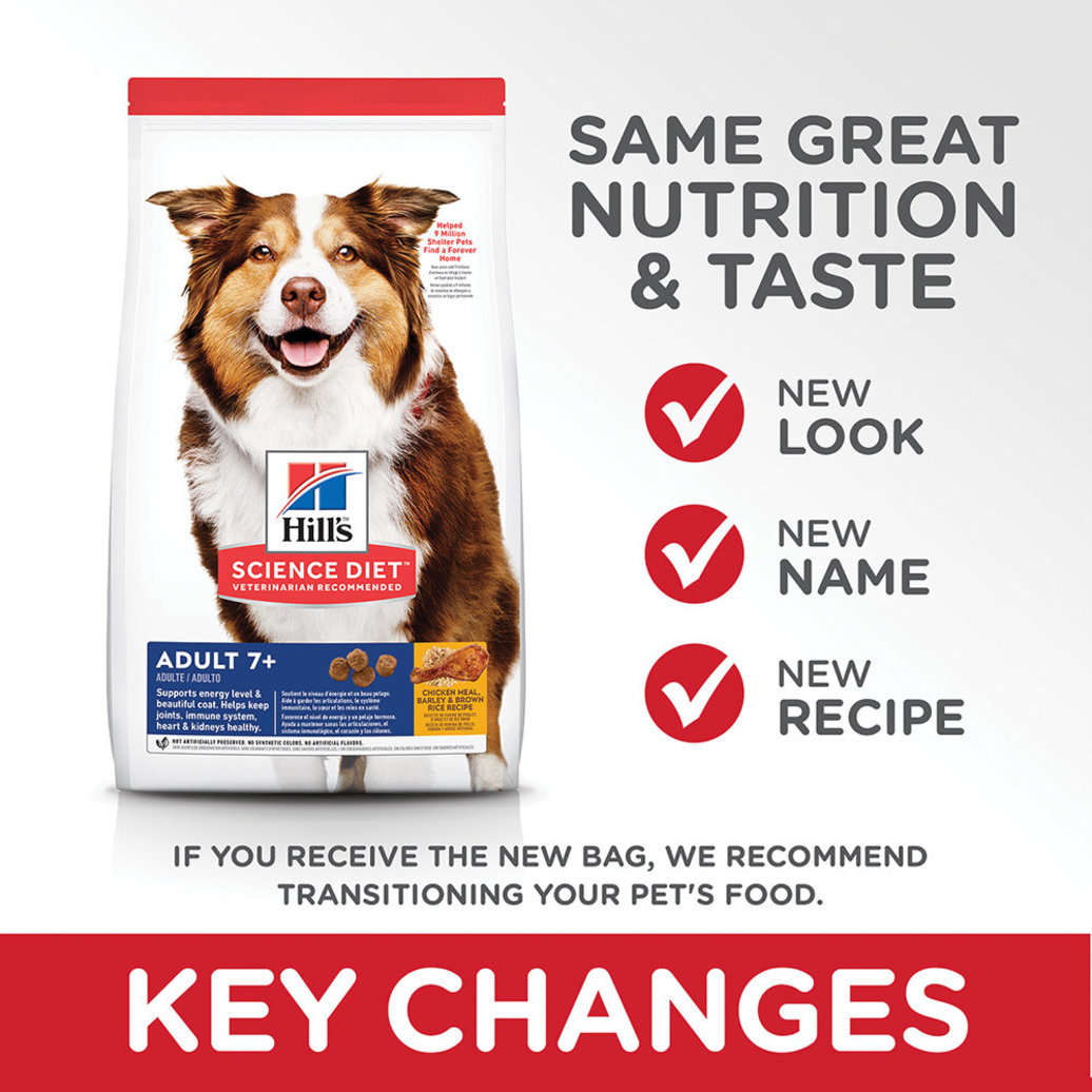 View larger image of Adult 7+ Chicken Meal, Barley & Brown Rice Recipe Dry Dog Food