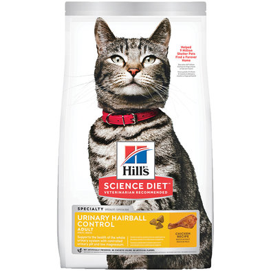 Adult Cat Urinary & Hairball Control, Dry