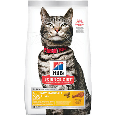 Adult Urinary & Hairball Control Chicken Recipe Dry Cat Food