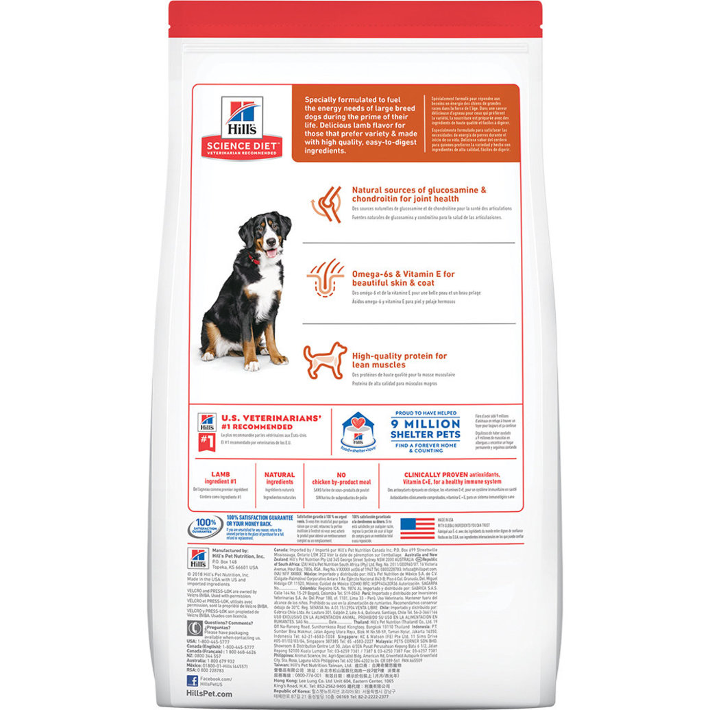 View larger image of Adult Large Breed Lamb Meal & Brown Rice Recipe Dry Dog Food, 15 kg