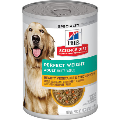 Adult Perfect Weight Vegetable & Chicken Stew Canned Dog Food for healthy weight, 354g