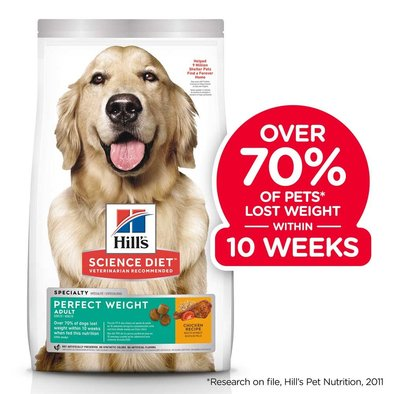 Adult Perfect Weight Chicken Recipe Dry Dog Food for healthy weight and weight management