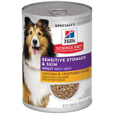 Adult Sensitive Stomach & Skin Chicken & Vegetable Entrée Canned Dog Food, 363 g