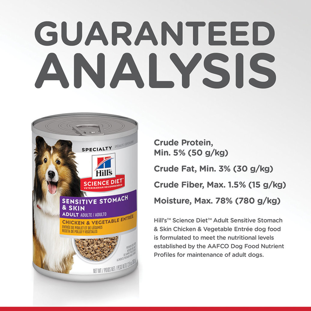 View larger image of Adult Sensitive Stomach & Skin Chicken & Vegetable Entrée Canned Dog Food, 363 g