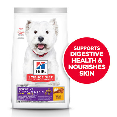 Adult Sensitive Stomach & Skin Small Bites Chicken Recipe Dry Dog Food
