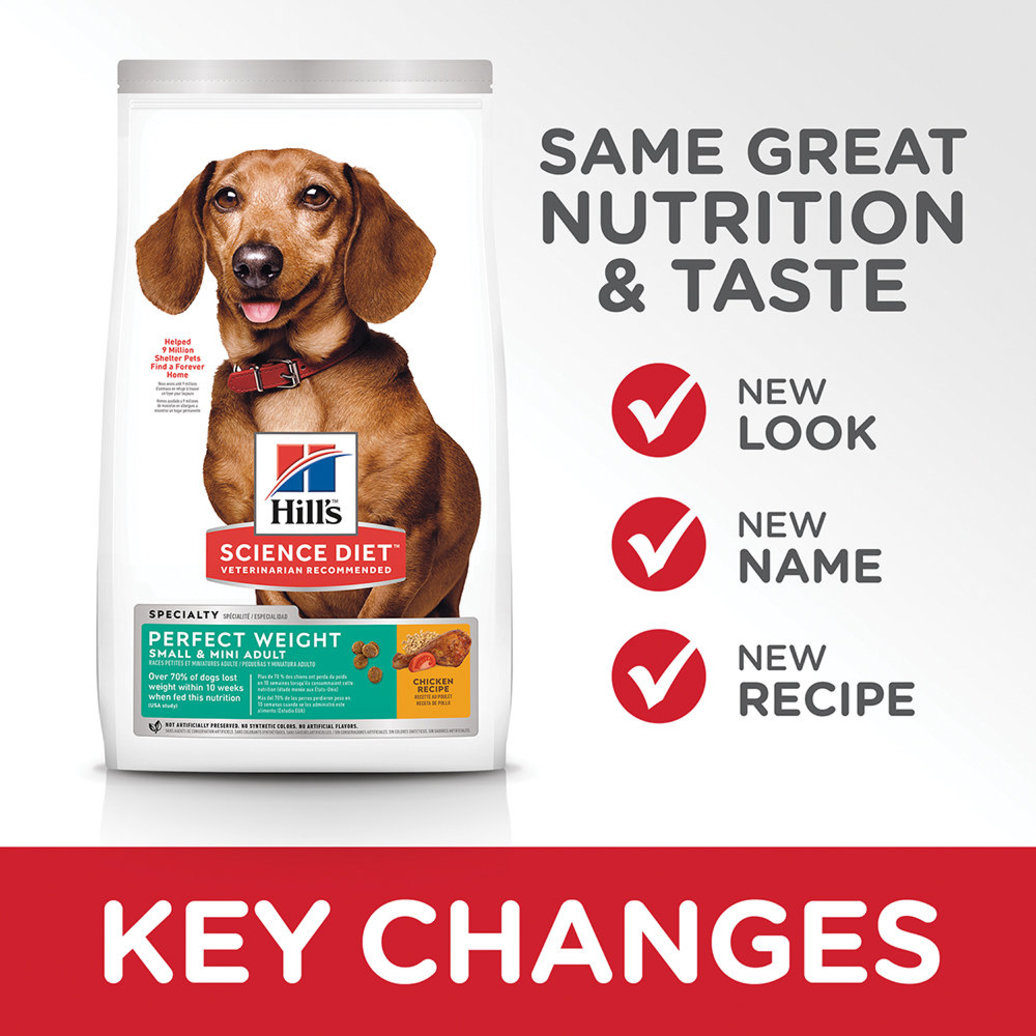 View larger image of Adult Perfect Weight Small & Mini Chicken Recipe Dry Dog Food for healthy weight management