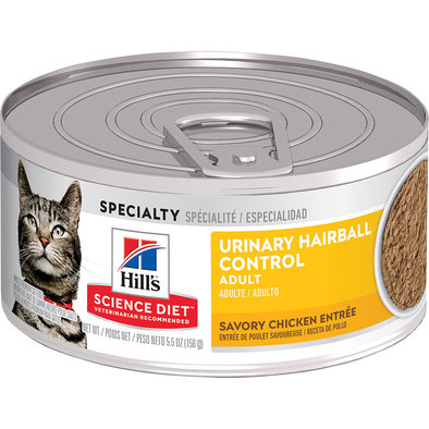 Adult Urinary & Hairball Control Savory Chicken Canned Cat Food