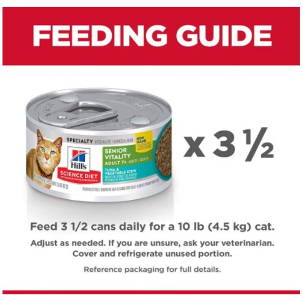 View larger image of Adult 7+ Senior Vitality Tuna & Vegetable Stew Canned Cat Food, 82 g