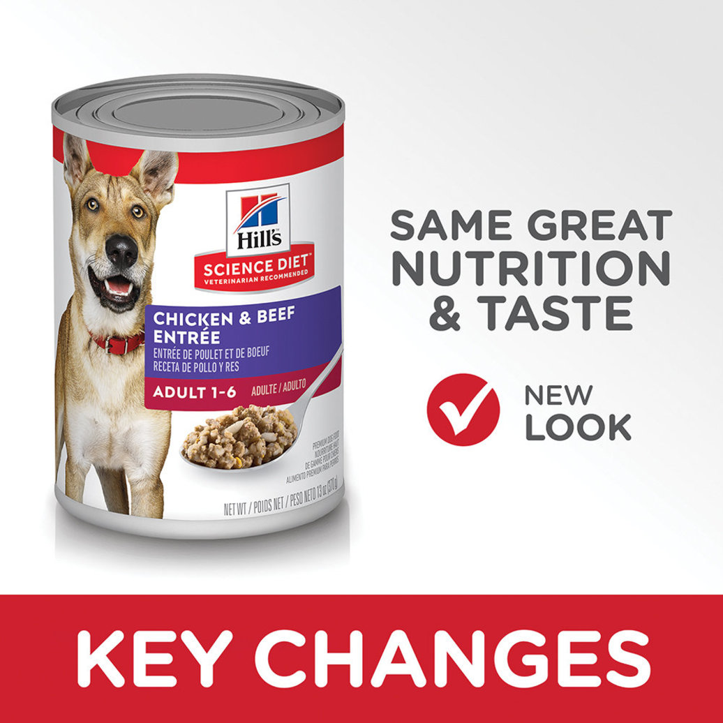 View larger image of Adult Chicken & Beef Canned Dog Food, 368g