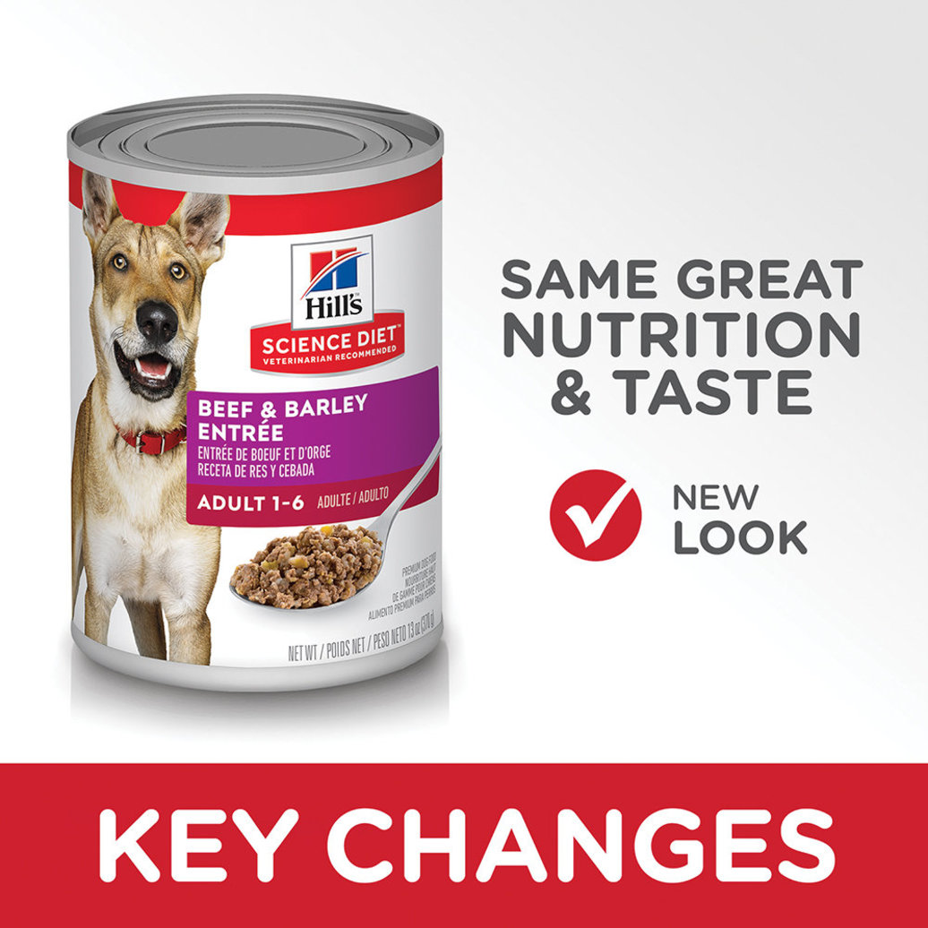 View larger image of Adult Beef & Barley Canned Dog Food, 370 g