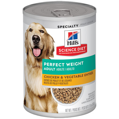 Adult Perfect Weight Chicken & Vegetable Canned Dog Food for healthy weight management