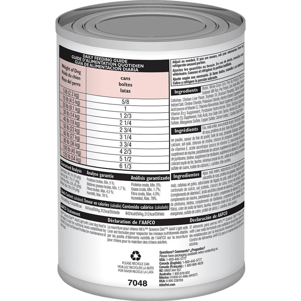 View larger image of Adult Light with Liver Canned Dog Food for healthy weight and weight management