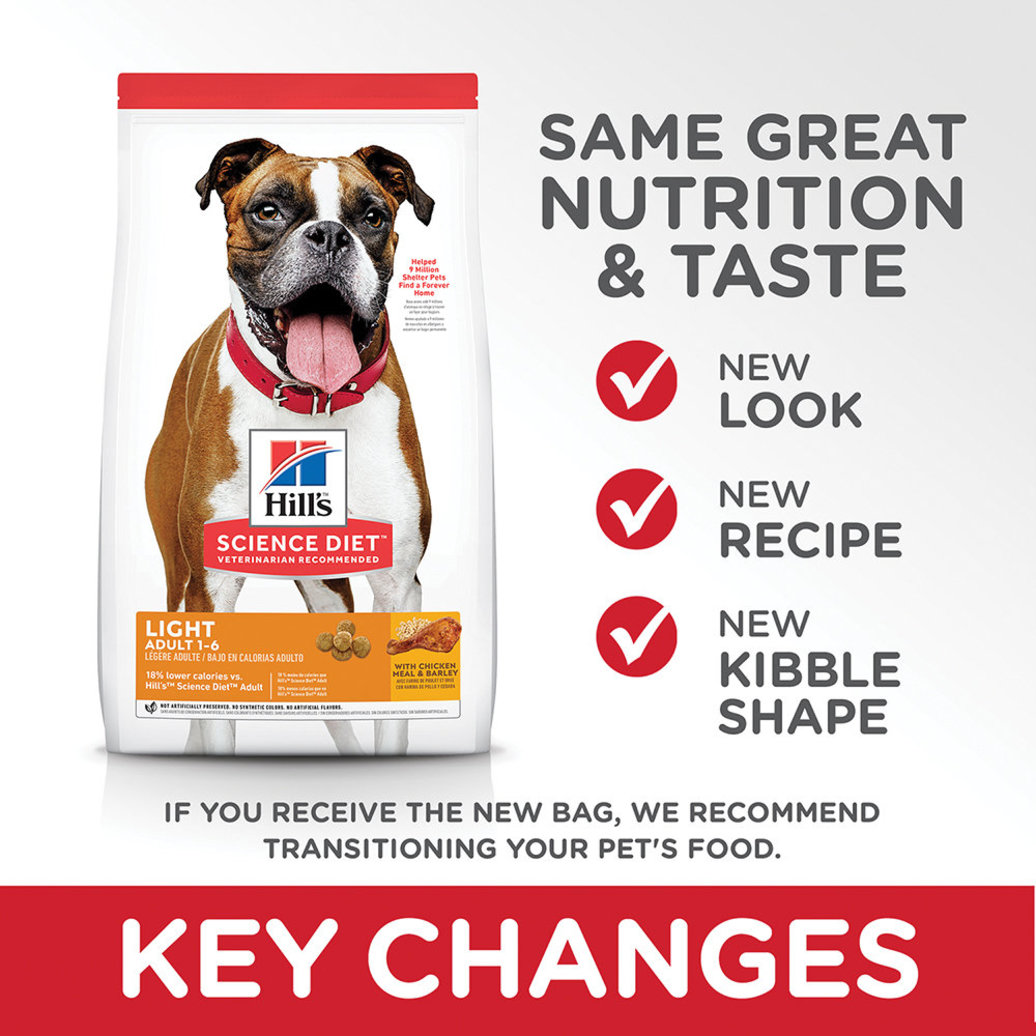 View larger image of Adult Light with Chicken Meal & Barley Dry Dog Food for healthy weight management