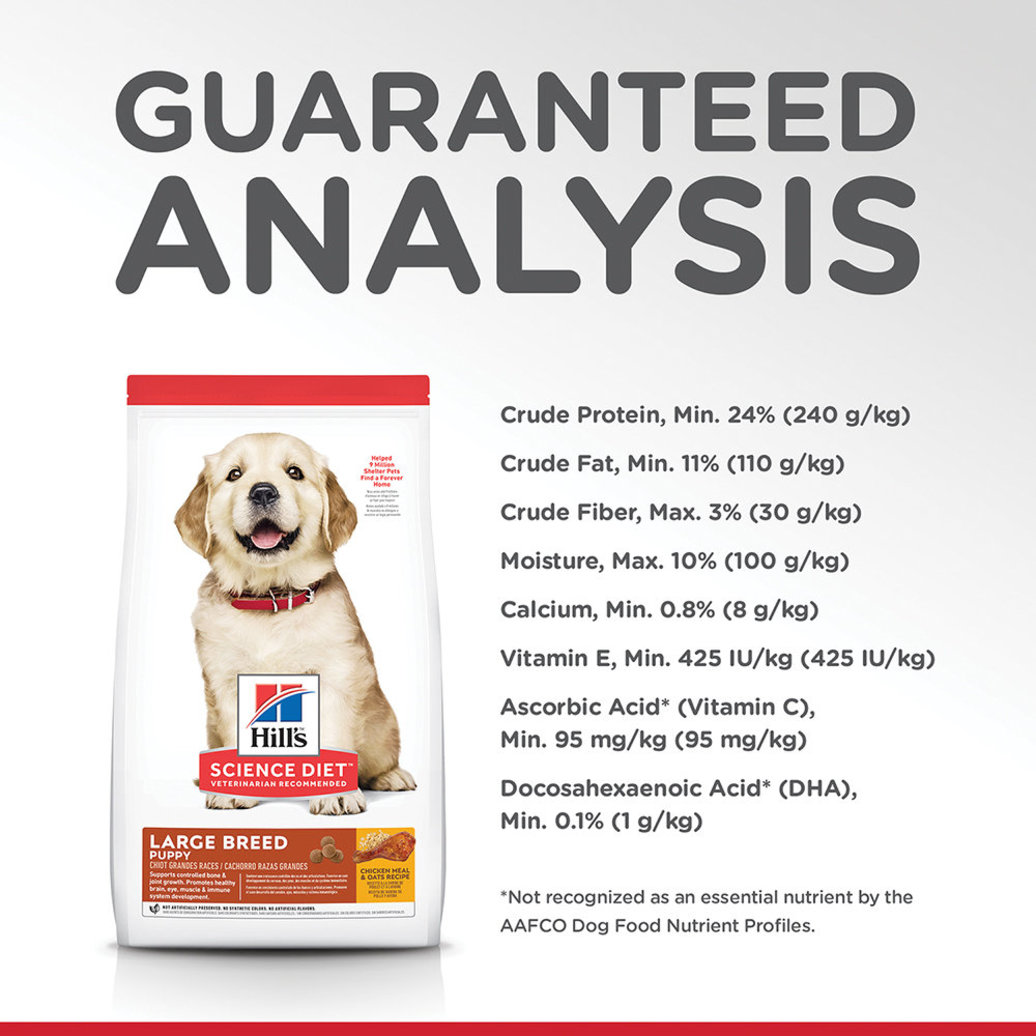 View larger image of Puppy Large Breed Chicken Meal & Oats Recipe Dry Dog Food, 13.6 kg