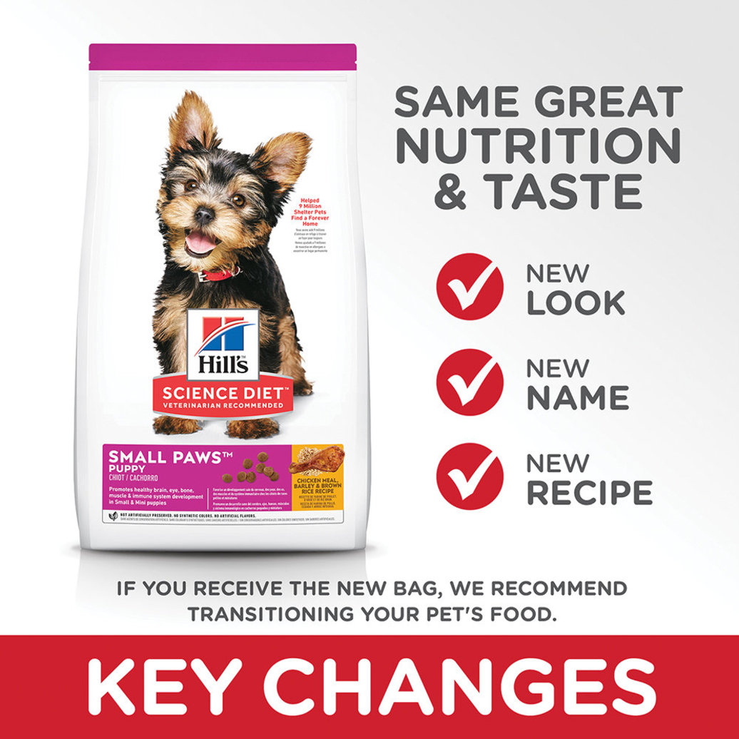 View larger image of Puppy Small Paws Chicken Meal, Barley & Brown Rice Recipe Dry Dog Food, 2.04 kg