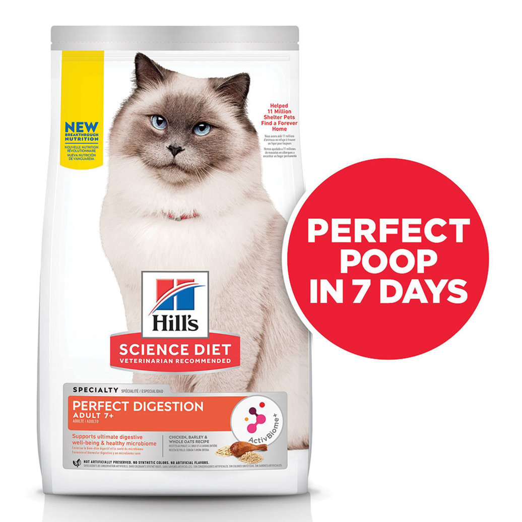 View larger image of Science Diet, Feline Adult 7+ - Perfect Digestion Chicken