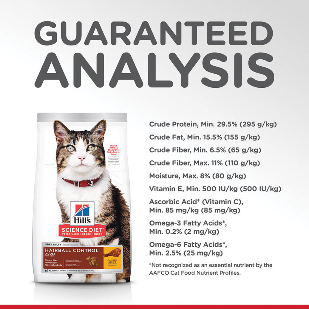 View larger image of Adult Hairball Control Chicken Recipe Dry Cat Food
