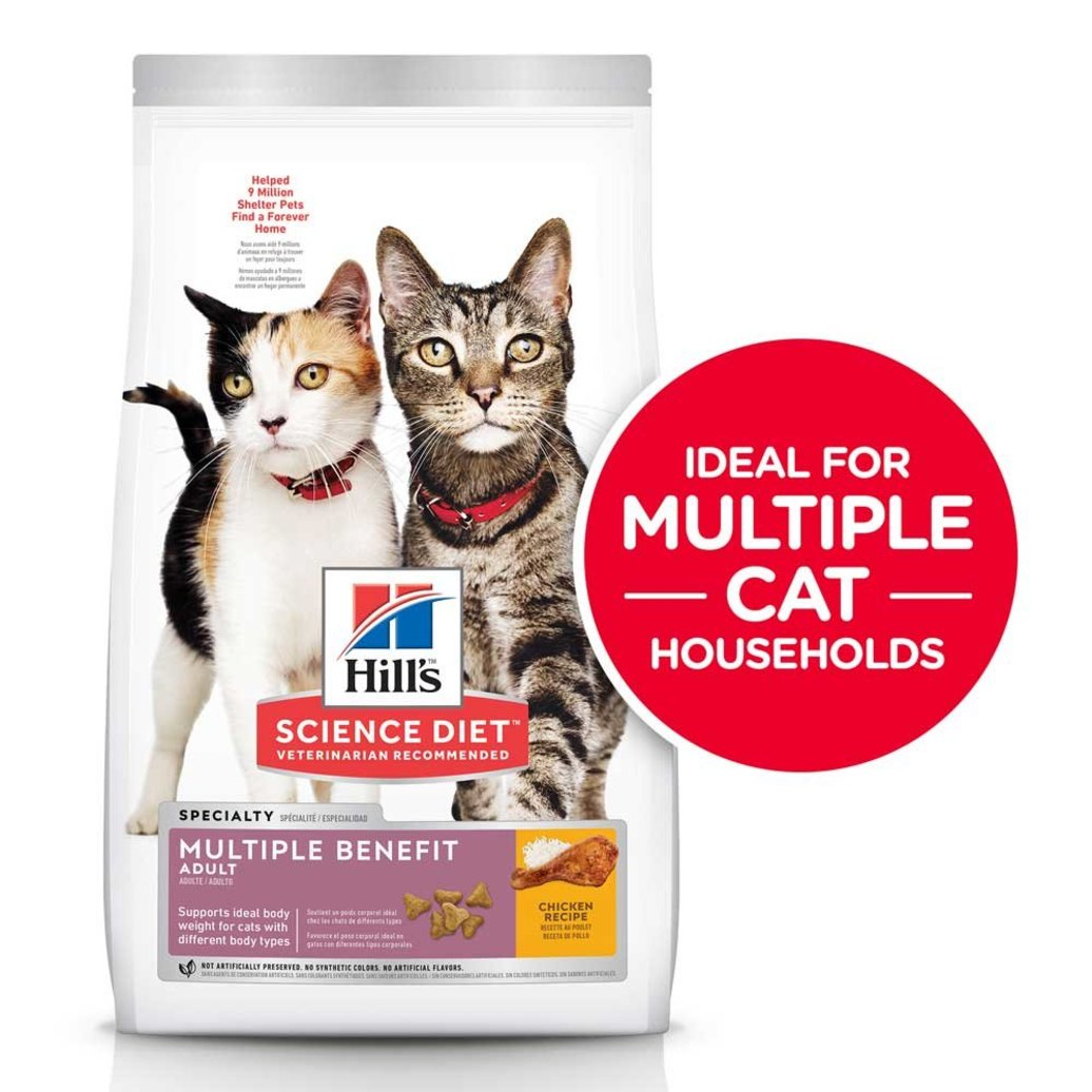 View larger image of Adult Multiple Benefit Chicken Recipe Dry Cat Food, 7.03 kg
