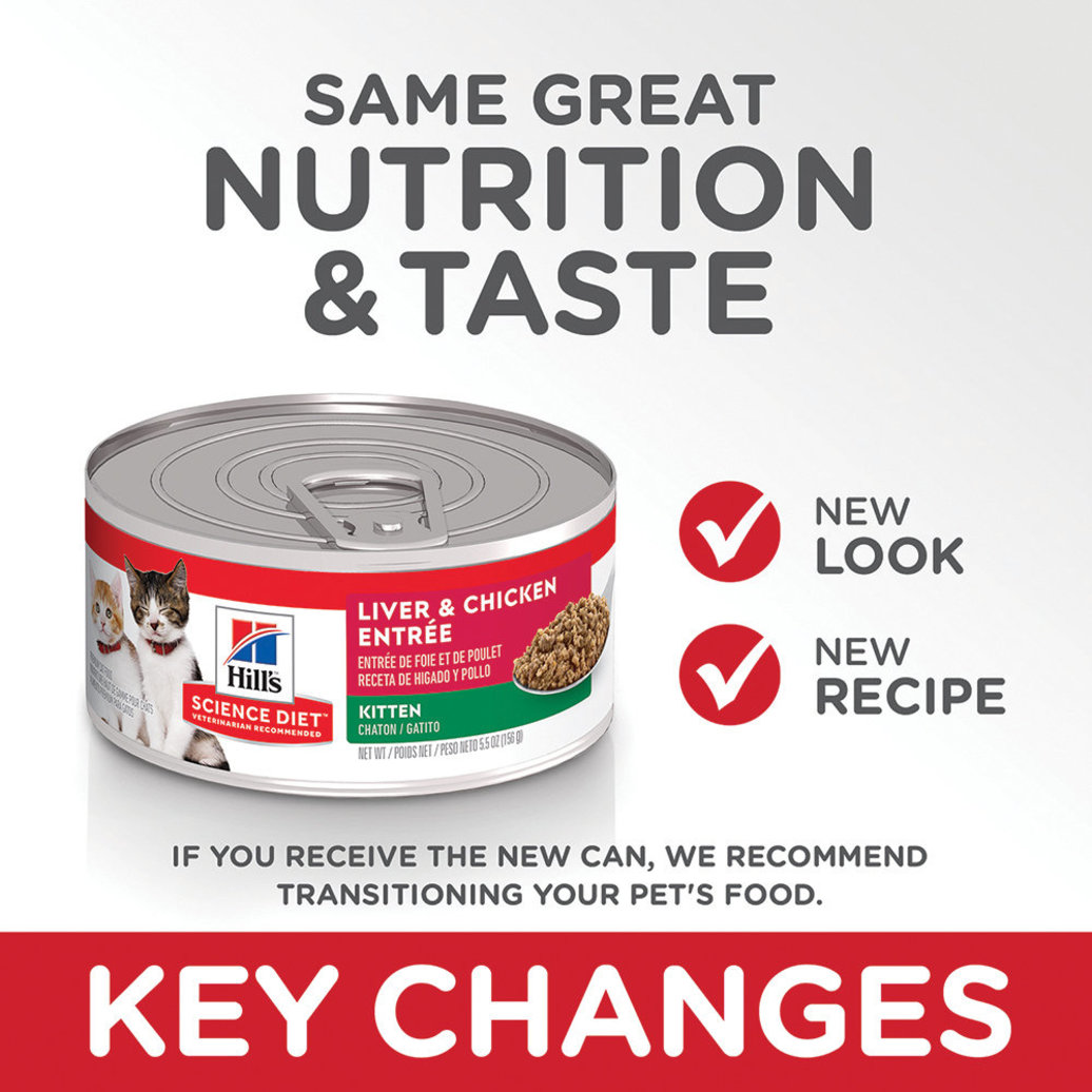 View larger image of Kitten Liver & Chicken Canned Cat Food, 156g