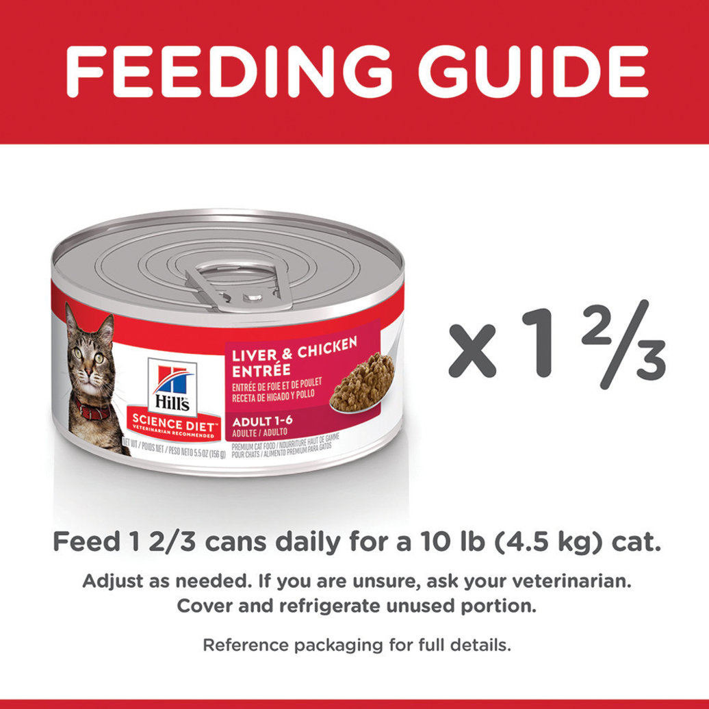 View larger image of Adult Liver & Chicken Canned Cat Food, 156g