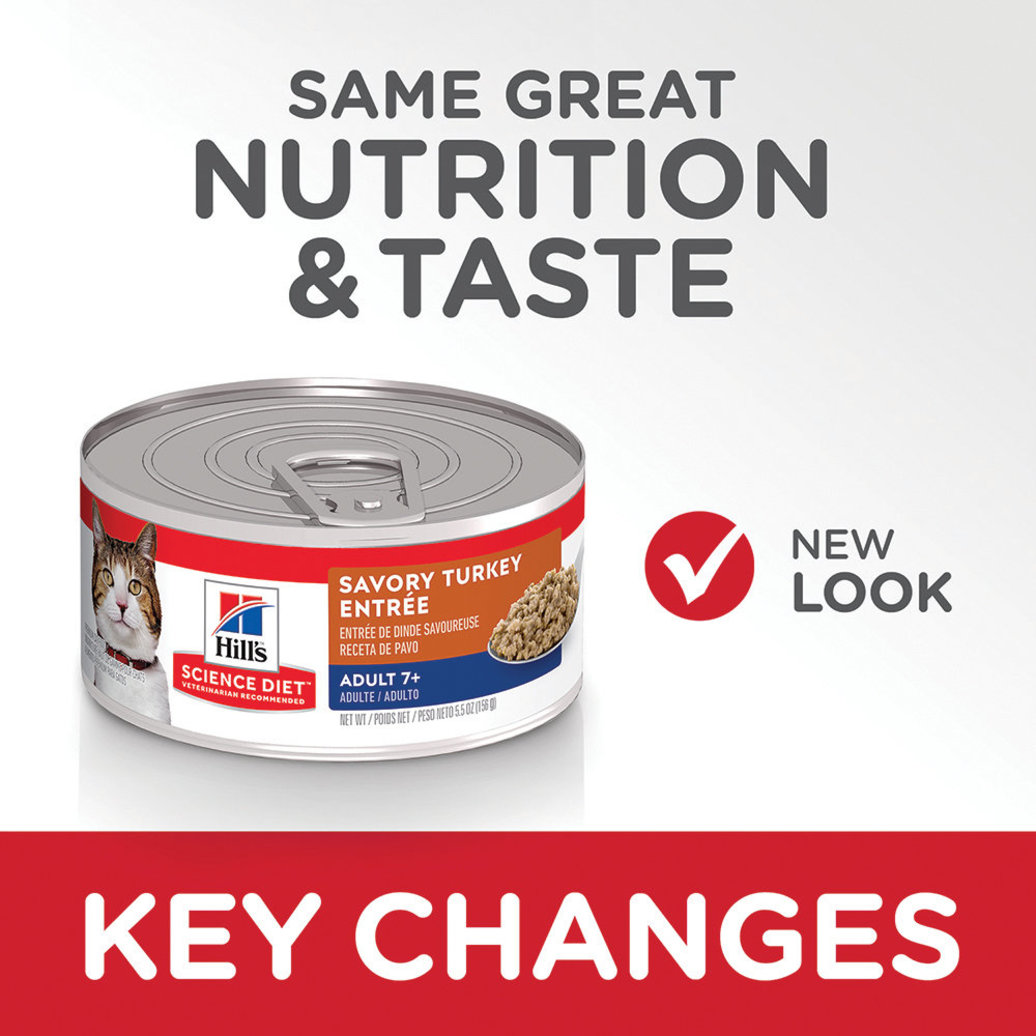 View larger image of Adult 7+ Savory Turkey Canned Cat Food, 156 g