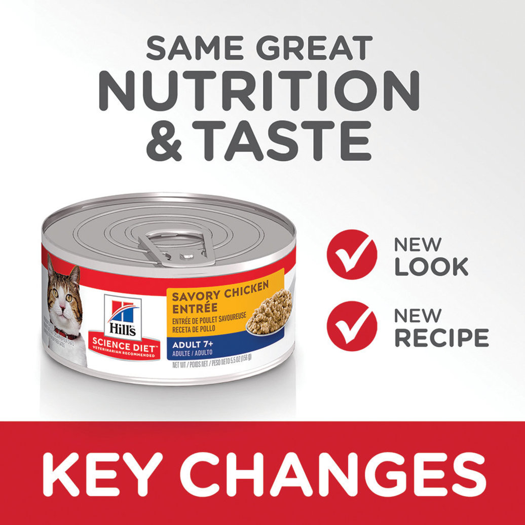 View larger image of Adult 7+ Savory Chicken Canned Cat Food, 156 g
