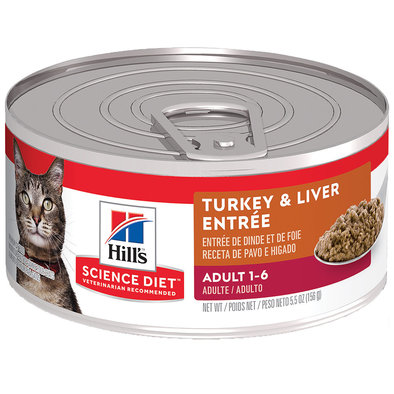 Adult Turkey & Liver Canned Cat Food, 156g