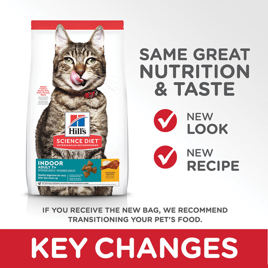 View larger image of Adult 7+ Indoor Chicken Recipe Dry Cat Food