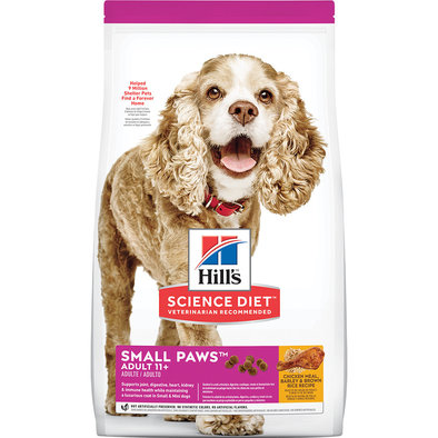 Adult 11+ Small Paws Chicken Meal, Barley & Brown Rice Recipe Dry Dog Food