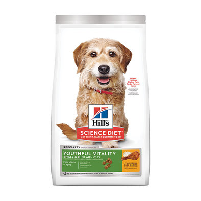 Adult 7+ Youthful Vitality Small & Mini Chicken & Rice Recipe Dry Dog Food, 1.81 kg