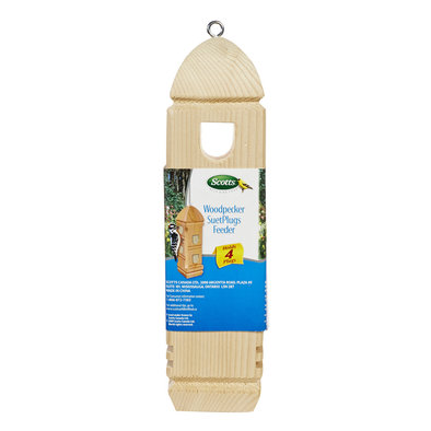 Wood Pecker Suet Plug Feeder