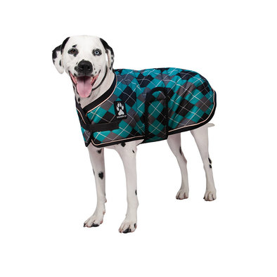 K9 Glacier Dog Coat - Black/Teal Argyle