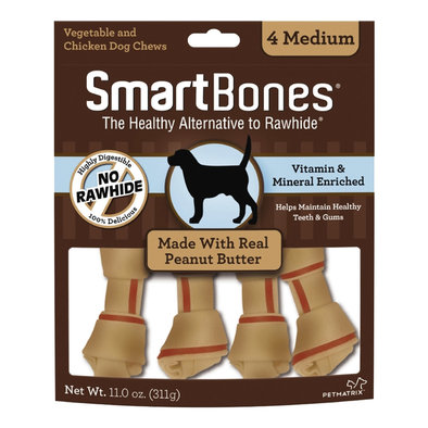 Bones - Peanut Butter -Medium - 4 pk
