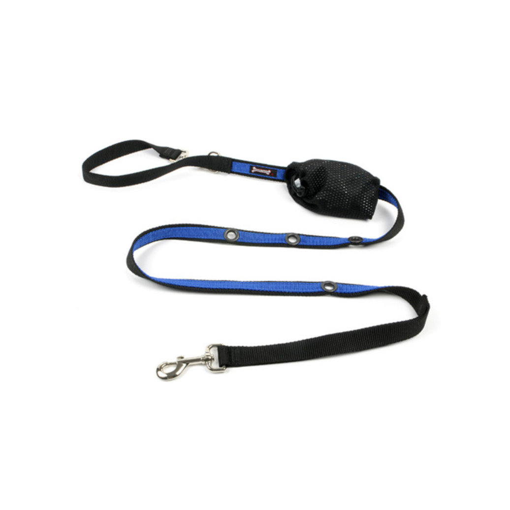 "View larger image of 2-Tone Optional Hands Free Lead - Black/Ocean - 1"" Width - 6'"